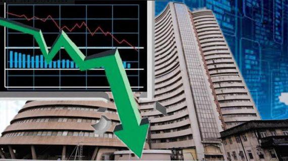 नकारात्मक रुझान के बीच भारी गिरावट के साथ बंद हुआ शेयर बाजार