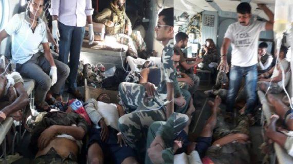 छत्तीसगढ़ के सुकमा में नक्सली हमला, CRPF के 26 जवान शहीद