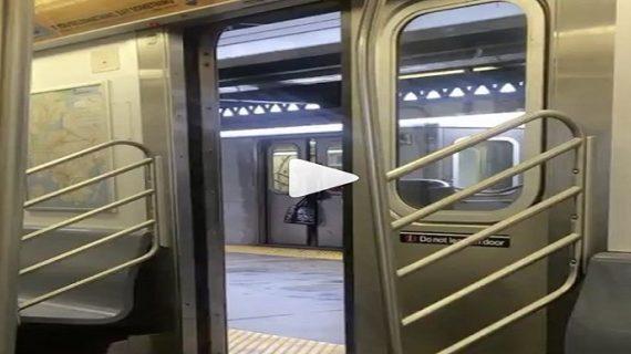 मेट्रो के गेट में फंसा महिला का सर, तमाशा देखते रहे लोग