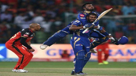 पोलार्ड की आतिशी पारी, मुम्बई ने बेंगलुरु को 4 विकेट से हराया