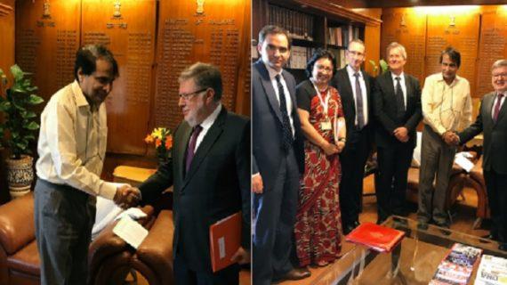भारत और फ्रांस के बीच रेलवे क्षेत्र में सहयोग पर सहमति