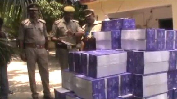 बलिया में पुलिस ने पकड़ी बड़े पैमाने पर अवैध शराब