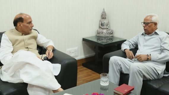 घाटी के हालातों पर चर्चा करने के लिए गृहमंत्री राजनाथ से मिले J&K गर्वनर