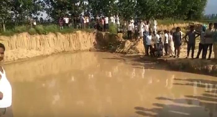 Drowned, pit, dug, mining, 2 innocents, killed, police, crime,