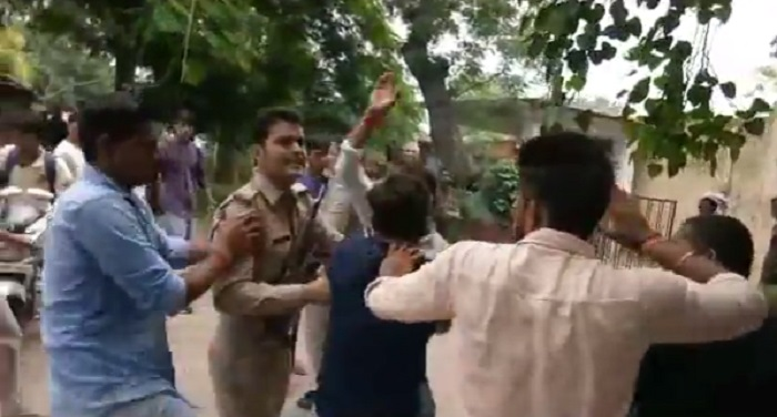 bajrang dal ,caught, lover couple,charged ,love jehad, police, crime,