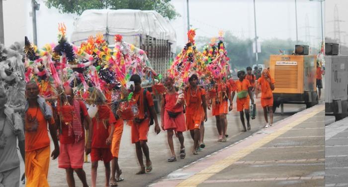 accident, kanwad yatra, haridwar, shiv bhakt, car accident, kannwadiya injured