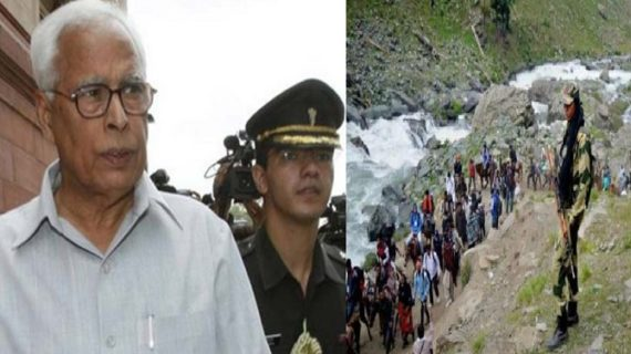 अमरनाथ हादसा: राजनाथ से बात कर वोहरा ने लिया घटनास्थल का जायजा