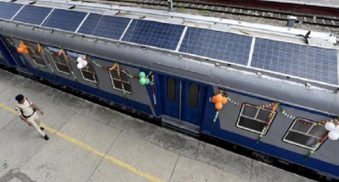india, launches, solar, train, suresh prabhu, express, happiness