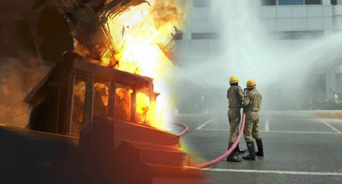fire, three flor building, police, mumbai, damkal vibhag