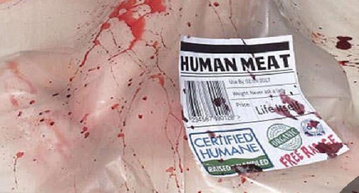 human meat, sale, london, body, Speciesystem, save animal
