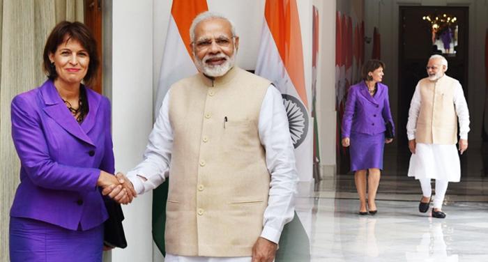 Modi and Doris Leuthard