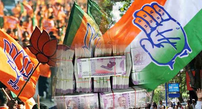 bjp, corporate, donation, claim, adr, study, Political parties