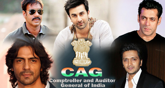 cag report, discloses, bollywood, personalitie, stolen, service tax