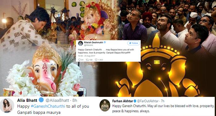 bollywood, ganesh chaturthi, celebration, arjun kapoor ritesh deshmukh, ajay devgn