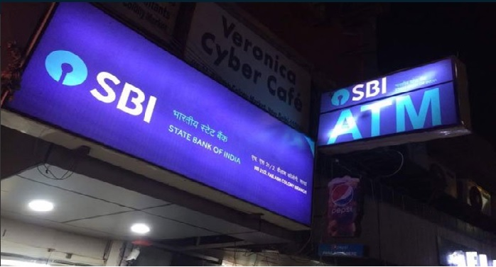 state bank of india block atm