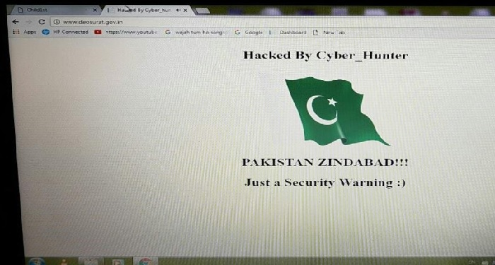 pakistan, government, website hack, hacker, post, indian, national anthem