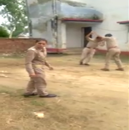 police, personnel clashing, police station, up police