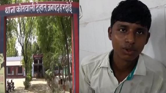 हरदोई की गुंडा पुलिस की दबंगई, पैसे मांगने पर मिस्त्री की करी पिटाई