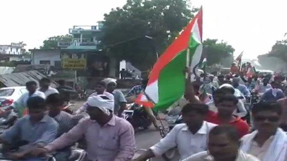 मिशन 2019 को लेकर BJP ने निकाली तिरंगा यात्रा