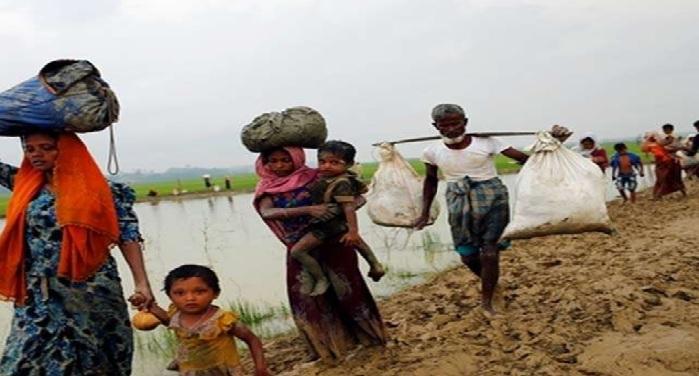 rohingya, muslim, bangladesh, burning house, Terror army