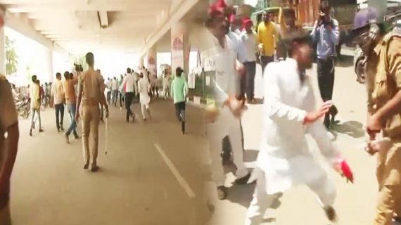 सरकार का विरोध करने पर पिटे सपा कार्यकर्ता, पुलिस ने भांजी लाठी