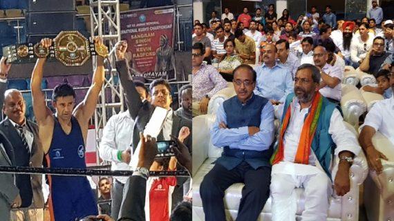 केविन रेडफोर्ड को संग्राम सिंह ने दी के डी जाधव अंतर्राष्ट्रीय कुश्ती चैम्पियनशिप में मात