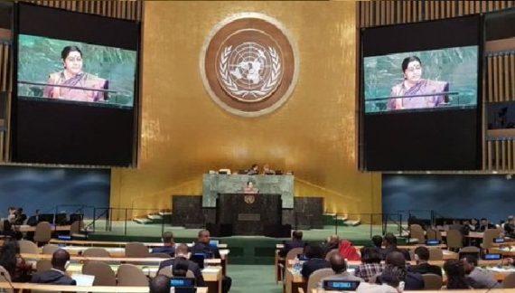 पाकिस्तान समर्थित आतंकवाद पर चीन के ढुलमुल रवैए पर सुषमा स्वराज का तंज