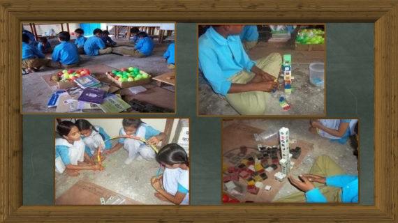 शिक्षक ने झाडू़ की सींक से बच्चों को दिखाया कमाल, छात्रों ने गणित को बनाया दोस्त