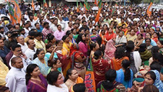मध्यप्रदेश: केरल में हिंदुओं की हत्या के विरोध में बीजेपी ने निकाली जनरक्षा रैली