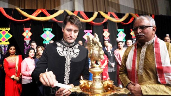 कनाड़ा के प्रधानमंत्री ने हिंदू समुदाय के साथ मनाई दिवाली, पहना भारतीय परीधान