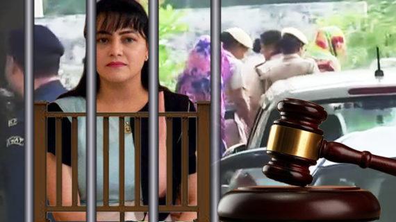पंचकुला कोर्ट में पेश हुई हनीप्रीत, 6 दिन की पुलिस रिमांड पर भेजा