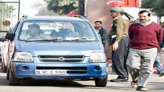 गाजियाबाद के मोहननगर से बरामद की गई केजरीवाल की लकी नीली कार