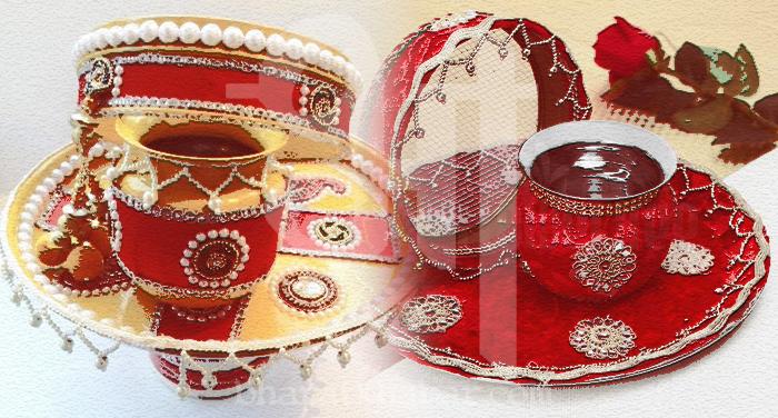 karva chauth plate