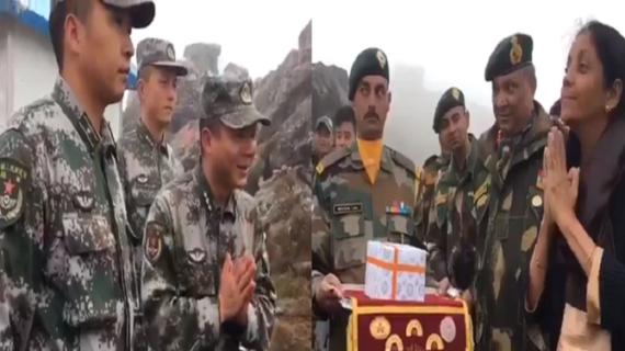 रक्षा मंत्री ने शेयर की वीडियो, चीनी सैनिकों को बताई 'नमस्ते' की परिभाषा