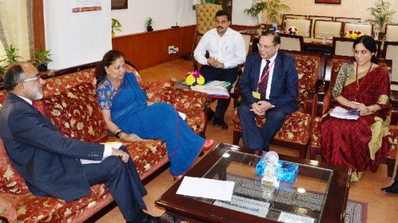 पर्यटन को बढ़ावा देने के लिए सीएम राजे और केन्द्रीय पर्यटन मंत्री की हुई मुलाकात