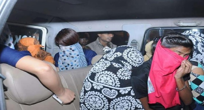 police raid hotels ghaziabad